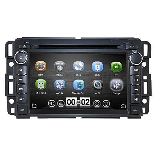 hizpo Car Stereo DVD Player for GMC Chevy Silverado 1500 2012 GMC Sierra 2011 2010 7 inch Quad Core Double Din in Dash Touchscreen FM/AM Radio Receiver Navigation Bluetooth...