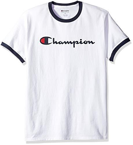 (Champion Men's Jersey Ringer Tee, White X-Large)