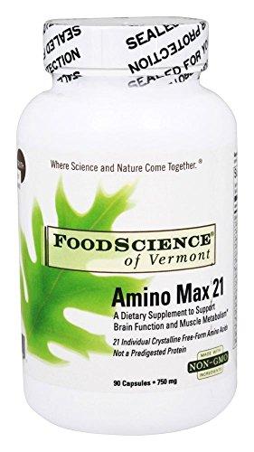 FoodScience of Vermont Amino Max 21, Amino Acid Dietary Supplement, 90 CT