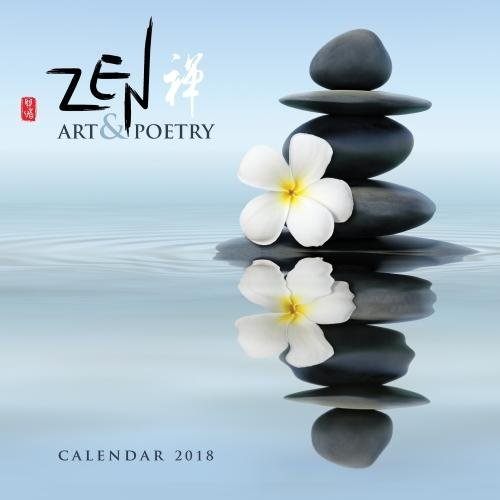 Zen Art & Poetry 2018 12 x 12 Inch Monthly Square Wall Calendar by Flame Tree, Inspiration Art Poetry