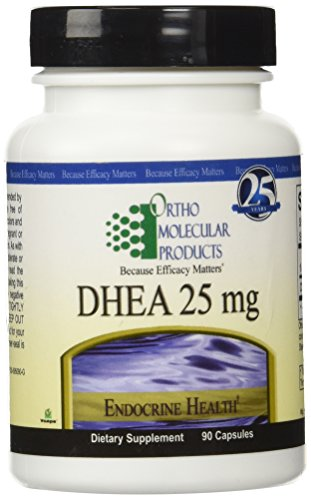 Ortho Molecular Products Dhea 25 Mg Capsules, 90 Count by Ortho Molecular