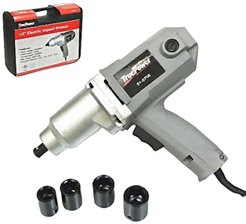 TruePower 01-0706 Electric Impact Wrench 230 Feet Pound Sockets and Storage Case Included, 1/2-Inch For Sale