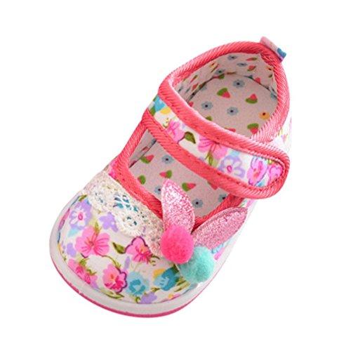 wuayi Mädchen Baby-Schuhe Hot Pink