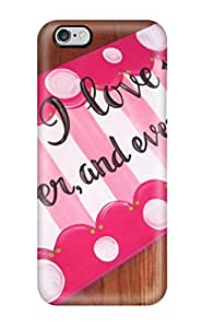 Hot Tpye I Love You (ilu) Pictures Case Cover For Iphone 6 Plus
