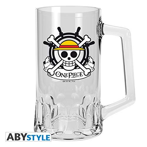 /500/ML /Cristal Jarra de Cerveza/ /Calavera Ruffy Luffy Logo/ One Piece/