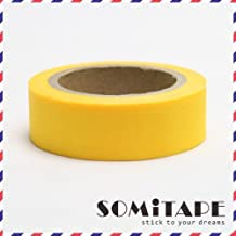 Somi Tape Neon Yellow Plain Washi Tape, Craft Decorative Tape
