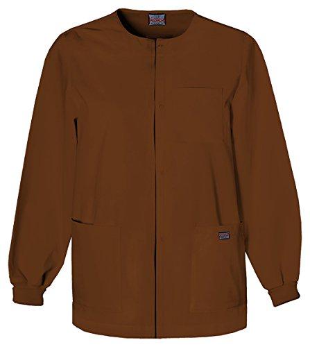 Cherokee Men's Men's Snap Front Warm-Up Jacket_White_Medium,4450 (Uniform Cherokee Poplin)