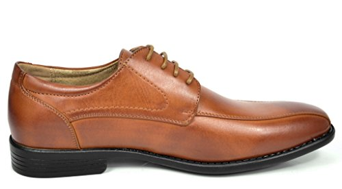 Shoes 03 Formal Up Lined Bruno Leather Lace Classic Oxford DP Dress Men's Modern brown Marc ttqg7wO