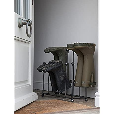 GARDEN TRADING FARRINGDON WELLY BOOT STAND IN STEEL By Garden Trading