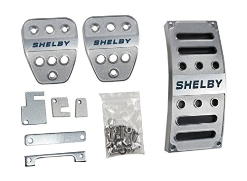 Yates Performance 2005-2017 Mustang & Shelby Billet Aluminum Foot Pedal Covers (Billet Aluminum Pedal Set)