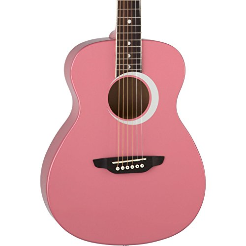 Luna Aurora Borealis 3/4 Acoustic Guitar, Pink Pearl ()