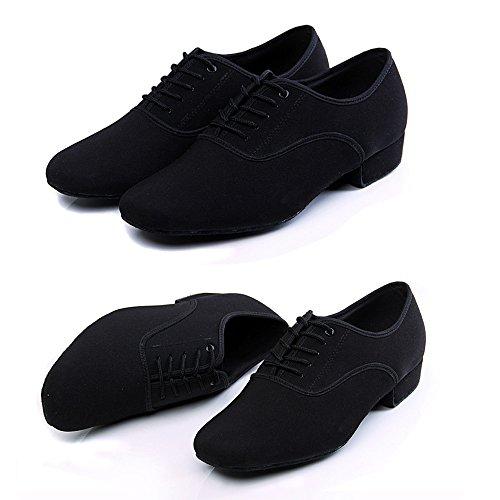 Männer Schwarz 1 '' Latin Dance Schuhe Modern Ballroom Schuhe Salsa Tango Tanzschuhe
