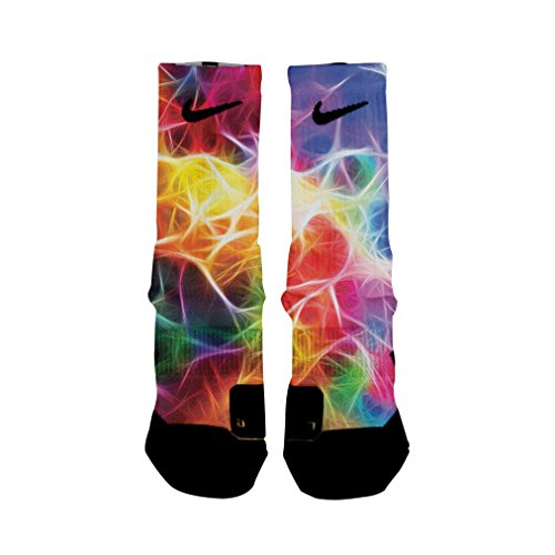 HoopSwagg Neuron Magic Custom Elite Socks Medium