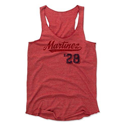 500 LEVEL J.D. Martinez Women's Tank Top Small Red - Boston Baseball Women's Apparel - J.D. Martinez Script R