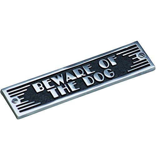 Art Deco Style Beware Of The Dog Plaque By TheMetalFoundr...