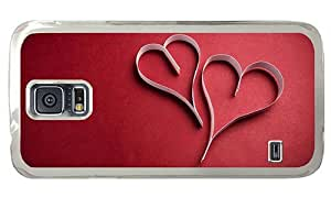 Hipster Samsung Galaxy S5 Case indestructible paper strips heart PC Transparent for Samsung S5