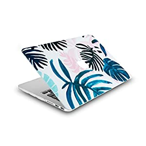 "LuvCase MacBook Pro 13"" Case Retina 2015 Plastic Hard Shell Cover for old MacBook Pro 13.3"" Retina A1502 / A1425 (Tropical Leaves)"
