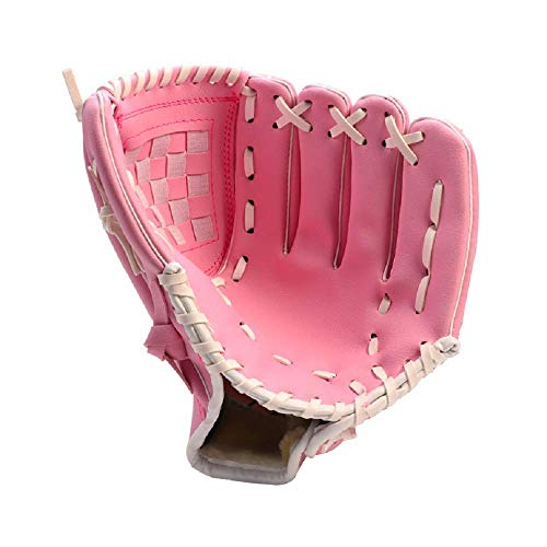 HAI+ Youth, Junior, Children's TBall Gloves, Baseball Glove, Fit for Beginner or Infielder,Left Hand Glove (Pink, 10.5)