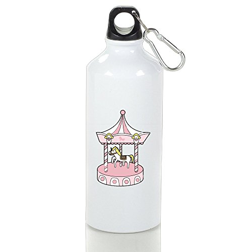 SIHA Dos LOVA Merry-go-round Aluminum Sport Water Bottle, Great For Outdoor And Sport Activities. Metal Hook On The Top 500ml