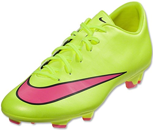 Nike Kids Jr Mercurial Victory V FG Volt/Hyper Pink/Black Soccer Cleat 2 Kids US