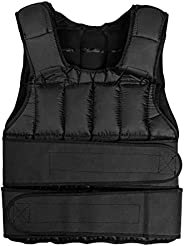 PRISP Adjustable Weighted Training Vest - 30 Kg Weight Vest for Strength and Fitness Workout