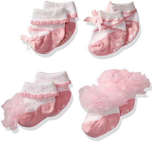Mud Pie Girls' Socks Set, Ballet Pink, 0-12 - Mud Pie Shoes
