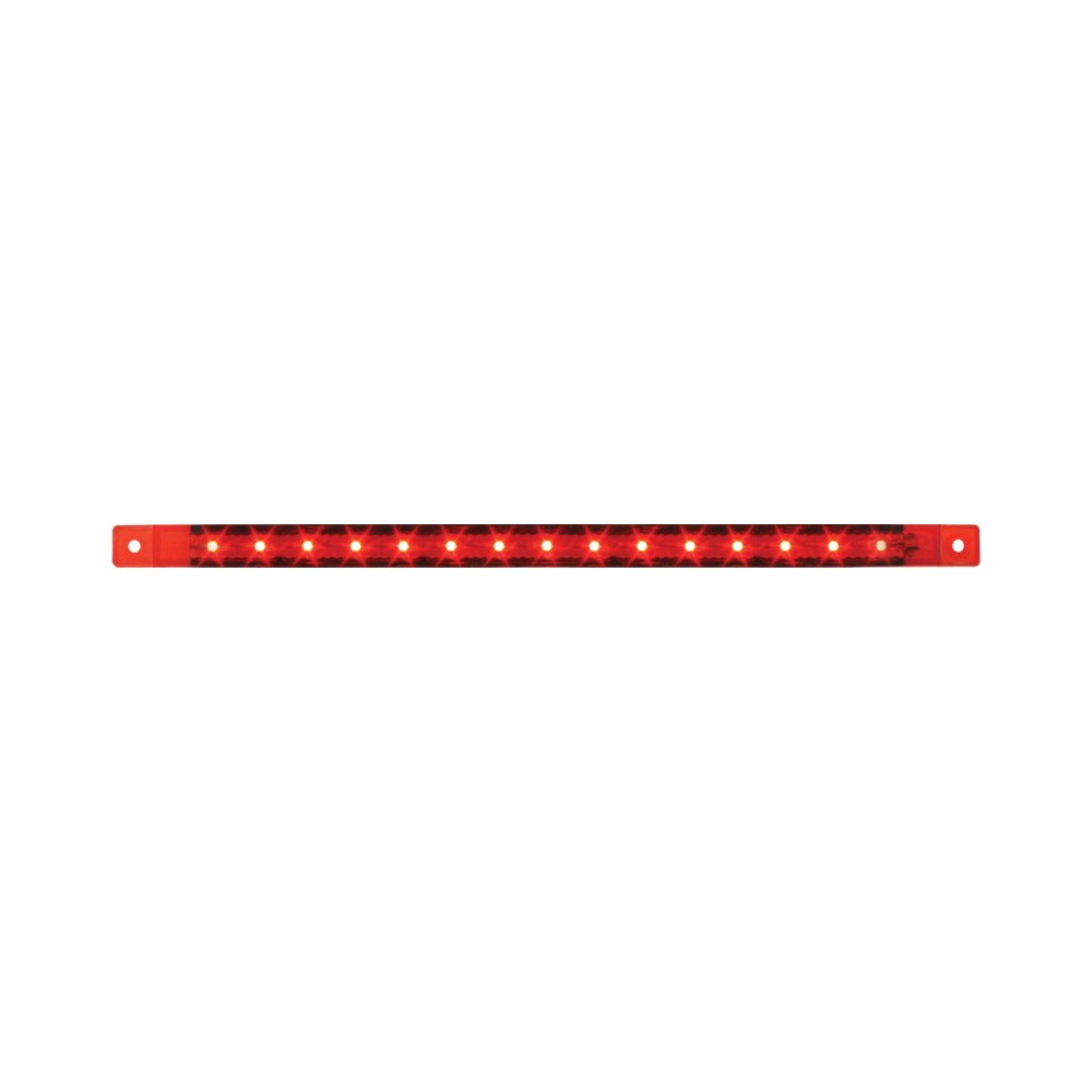 Grand General 76315 Red 12'' Ultra Thin Surface Mount 15-LED Marker Sealed Light Bar