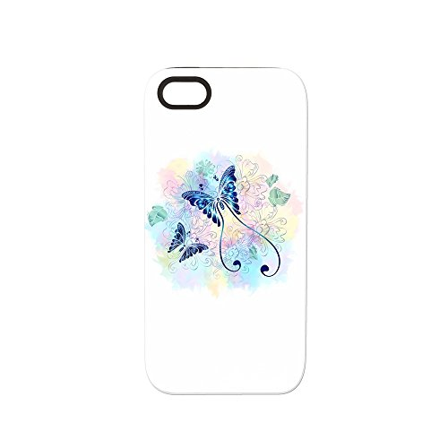 iPhone 5 or 5S Tough Rugged Case Long Tailed Butterfly with Flowers