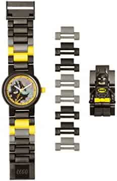 Lego Batman 8020837 Kids Minifigure Link Buildable Watch | Black/Yellow | Plastic | 27.5mm case Diameter| Analog Quartz | boy Girl | Official
