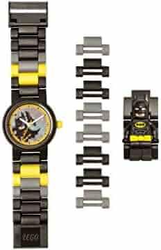 Lego Batman Movie 8020837 Batman Kids Minifigure Link Buildable Watch | Black/Yellow | Plastic | 25mm case Diameter| Analog Quartz | boy Girl | Official