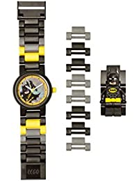 Batman 8020837 Kids Minifigure Link Buildable Watch | Black/Yellow | Plastic | 27.5mm case Diameter| Analog Quartz | boy Girl | Official