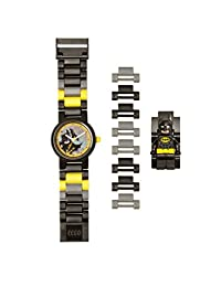 LEGO Batman Movie 8020837 Batman Kids Minifigure Link Buildable Watch | black/yellow | plastic | 25mm case diameter| analog quartz | boy girl | official