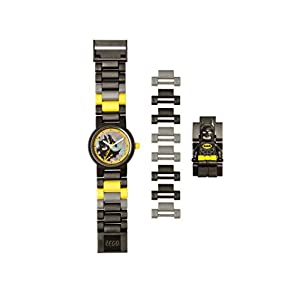 LEGO 8020837 Batman Movie Batman Minifigure Link Watch - 41zSU1S0loL - Lego Batman 8020837 Kids Minifigure Link Buildable Watch | Black/Yellow | Plastic | 27.5mm case Diameter| Analog Quartz | boy Girl | Official