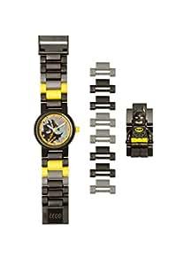LEGO Batman Movie 8020837 Batman Kids Minifigure Link Buildable Watch | black/yellow | plastic | 25mm case diameter | analog quartz | boy girl | official
