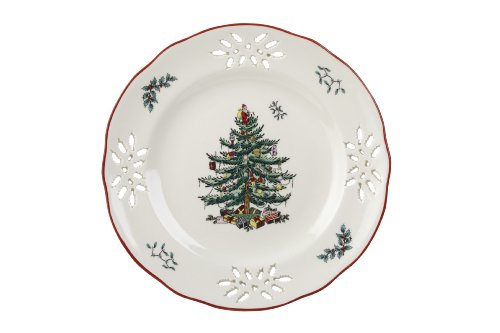 Spode Christmas Tree Pierced Accent Plate, 9-Inch