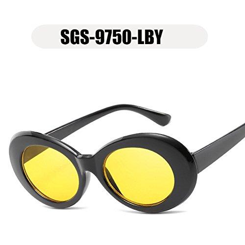 hombres de Tortuga gafas moda peso la marca Marrón OMAS de sol nuevas diseñador ovales gafas Marco mujeres de LBY de sol 2018 gafas Tortuga gafas mujeres OF1TF0qn