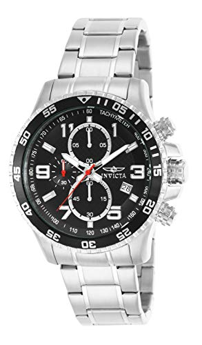Invicta Men's 14875 Specialty Chronograph Black Textured Dial Stainless Steel Watch ()