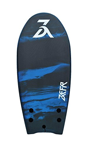 ''Holiday Sale'' ZEFR Fusion Board (Stealth) INDESTRUCTIBLE 48'' Solid Foam 1-Piece Construction Hybrid Surfboard/ Bodyboard, Shore-Break Proof, Leash & Fins Incl. by www.zefrboards.com