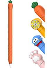 Delidigi Cute Case for Pencil 2nd Generation, Soft Silicone Cover Sleeve Accessories Compatible with Pencil 2nd Gen (Orange Carrot)