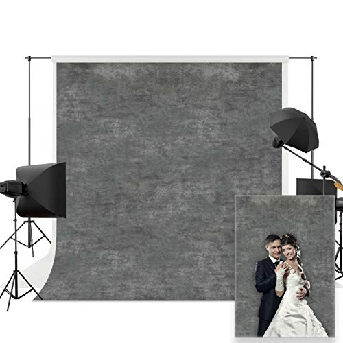 Allenjoy 5x7ft Solid Gray Textured Photography Backdrops Printed Old Master Photo Background Indoor Portrait Studio Booth Photographer Shot Props Baby Shower Wedding Photocall