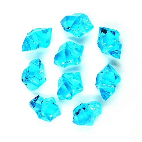 (Jane Shop Acrylic Ice Rock, 1 inch Faux Acrylic Crystals Treasure Gems for Table Scatters, Table Confetti, Vase Fillers, Fish Tank, Party Decoration (Aqua)