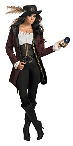 UHC Women's Disney Angelica Prestige Pirates Of The Caribbean Fancy Costume, M (8-10) (Disney Villain Costume)