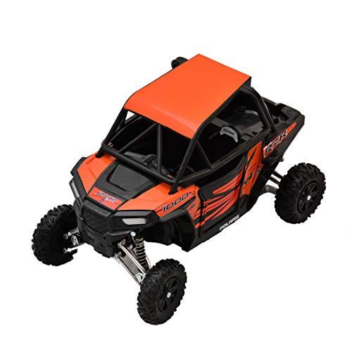 - Newray Polaris RZR XP 1000 Bike ATV Dirt Rider 1/18 Scale Pre-Built Model Vehicle Orange