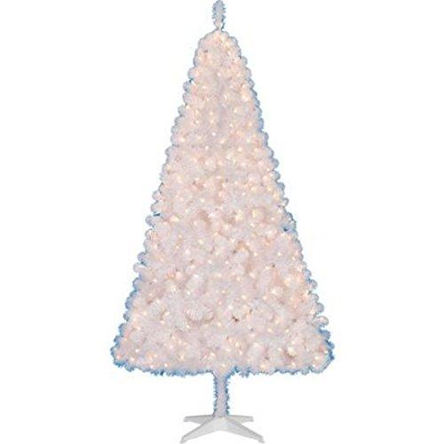 Madison Pine Christmas Tree: Pre-lit 6.5 Ft Madison Christmas Tree White Clear Lights