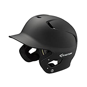 EASTON Z5 2.0 Batting Helmet | Junior | Matte Black | Baseball Softball | 2019 | Dual-Density Impact Absorption Foam | High Impact Resistant ABS Shell | Moisture Wicking BioDRI Liner