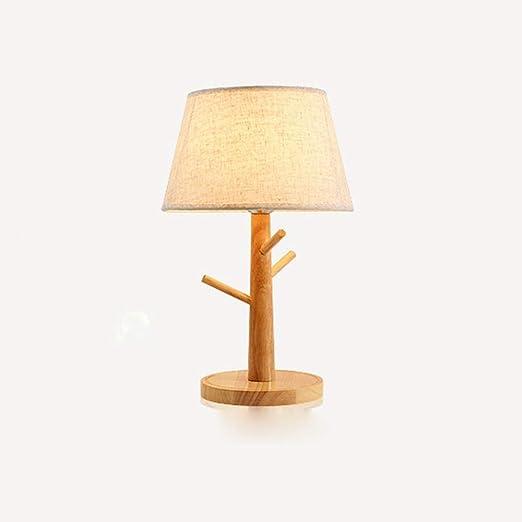 Lámpara de mesa de madera, rama nórdica Luces de escritorio de ...