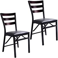 Casart Dining Chairs Folding High Back Portable Home Restaurant Dinner Chairs Furniture