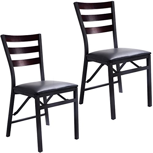 - Set of 2 Folding Chair Dining Chairs Home Restaurant Furniture Portable New