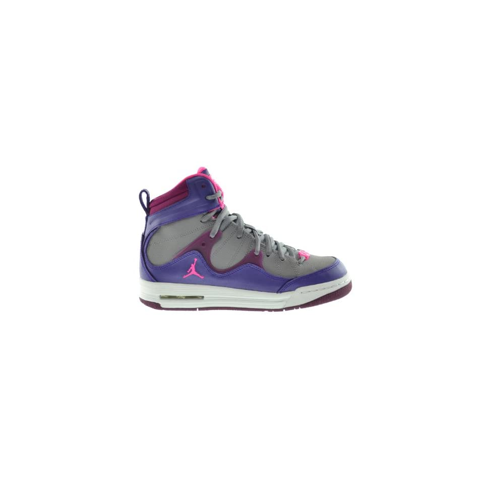 Jordan Girls Flight TR97 (GS) Big Kids Basketball Shoes Electric Purple/Pink Cement Grey Raspberry 599939 509 4