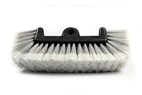CARCAREZ Flow Thru Dip Car Wash Brush Head with Soft Bristle for Auto RV Truck Boat Camper Exterior Washing Cleaning, Grey, 12 ()